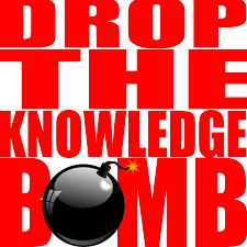 """Drop the knowledge Bomb"" graphic"