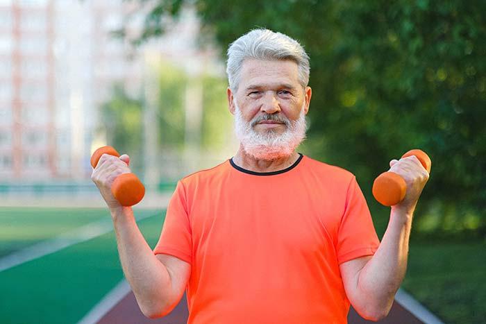 A man doing workout